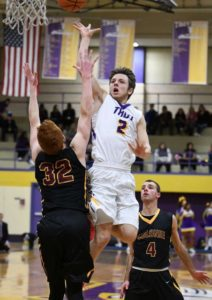 Senior Ryan Carmello makes shoots basket