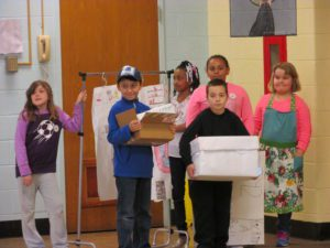 School 18 students performing their skit at the regional Odyssey of the Mind tournament