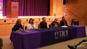 Tory High staff and administrators serve as panelists