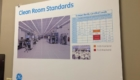 photo of Clean Room Standards poster at GE