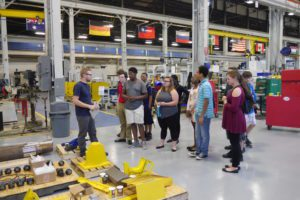 Students touring Simmons