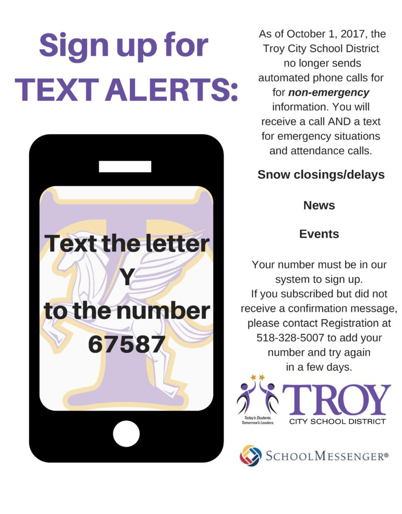 Text alert flyer with cell phone graphic