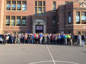 Group shot of Dads at School 18