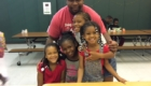 Dad and four young girls