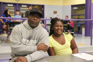 Dad and his young daughter