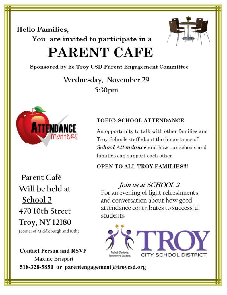 Parent Cafe flyer