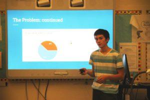 P-TECH students delivering presentations