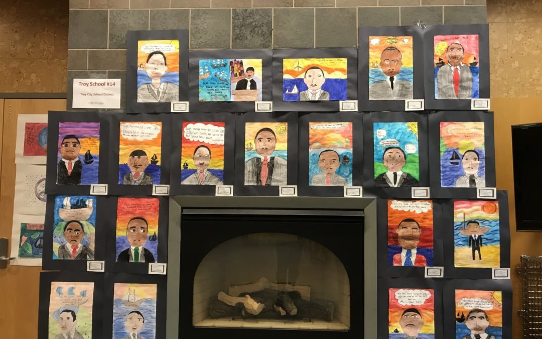 Student art featured in Siena MLK exhibit