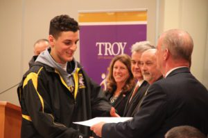 Football players recognized by Board, Mayor and City Council