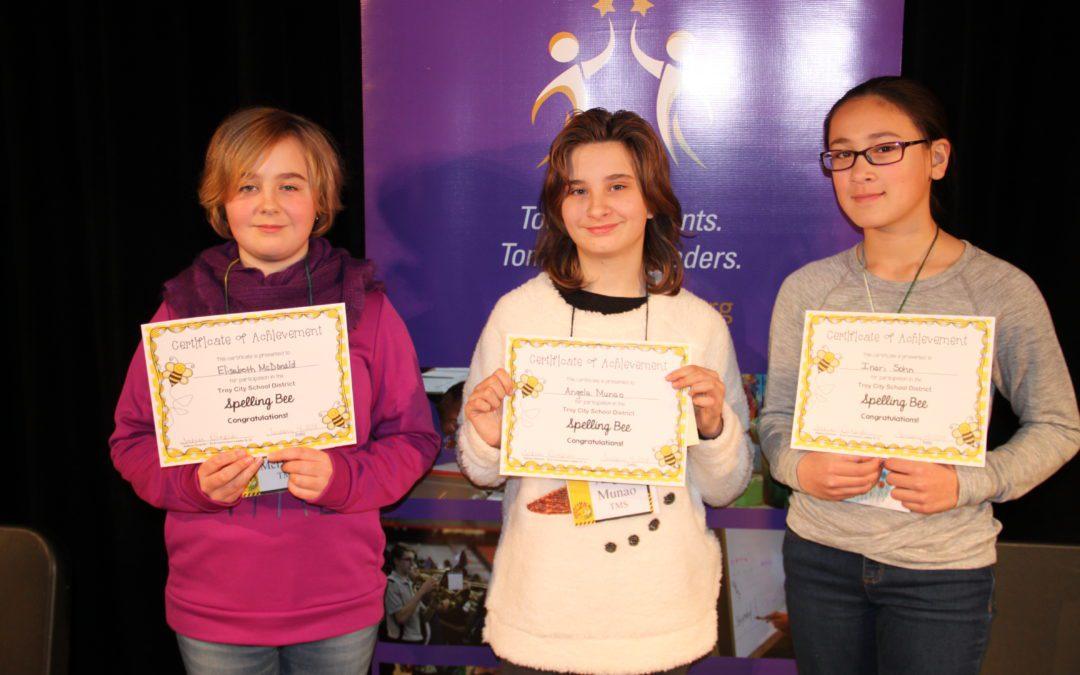 Spelling Bee winners advance