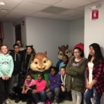 TMS students pose for the camera the Ronald McDonald House.