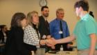 Students give math presentation