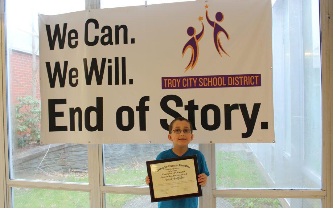 Carroll Hill Student wins Character Award