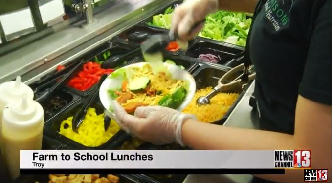 Farm to table lunches served in Troy Schools