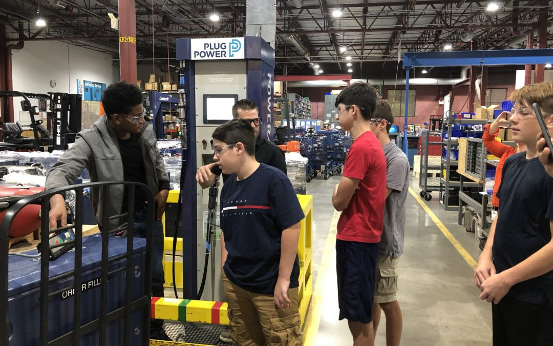 Incoming P-TECH students visit Plug Power