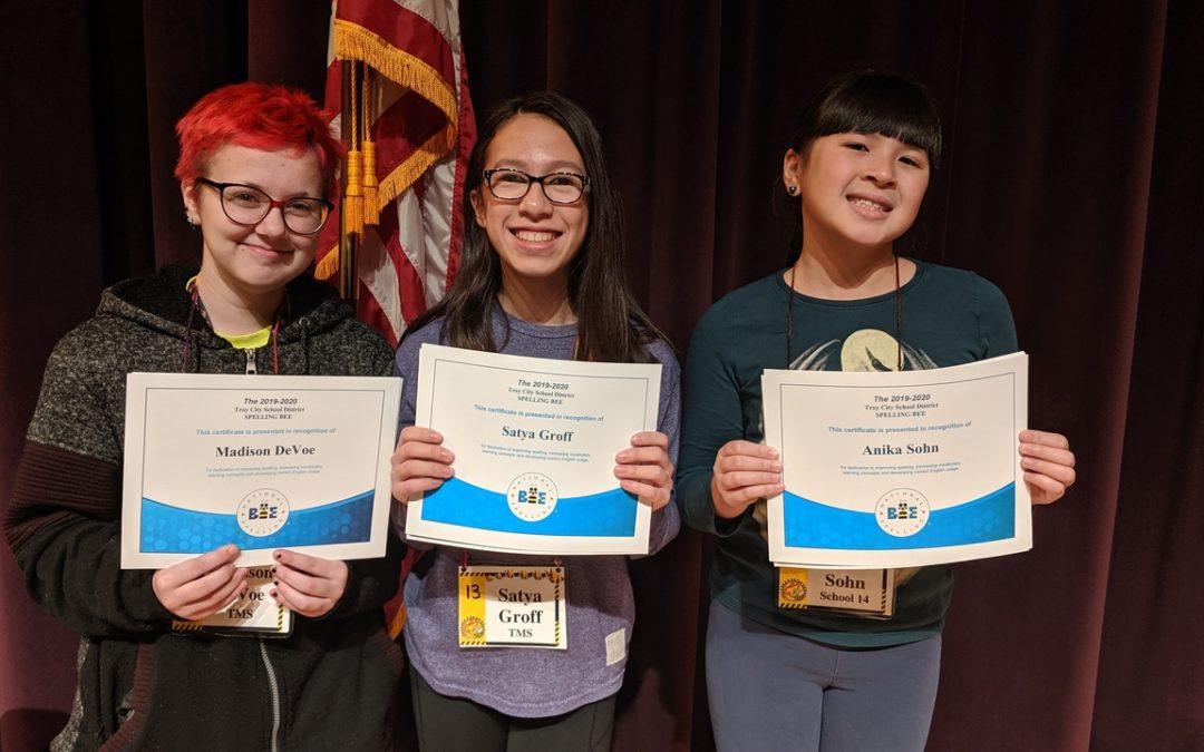Spelling Bee winners advance to regional tournament