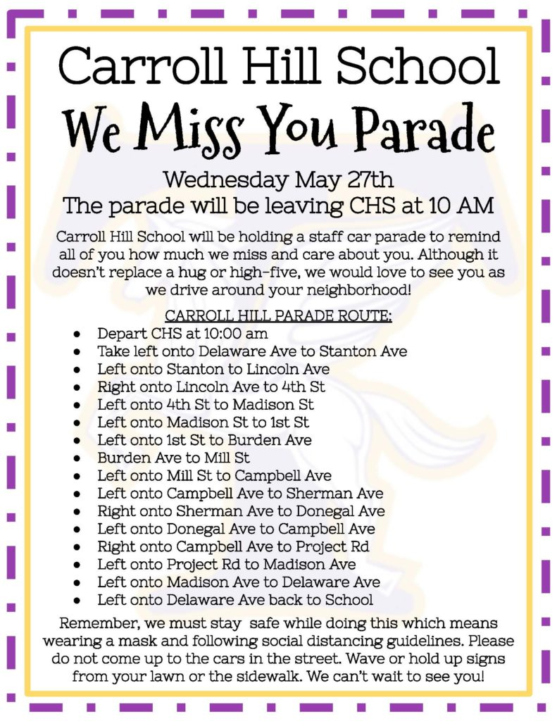 CHS parade route flyer