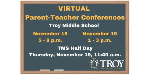 TMS Virtual Parent-Teacher Conferences – 11/18 and 11/19