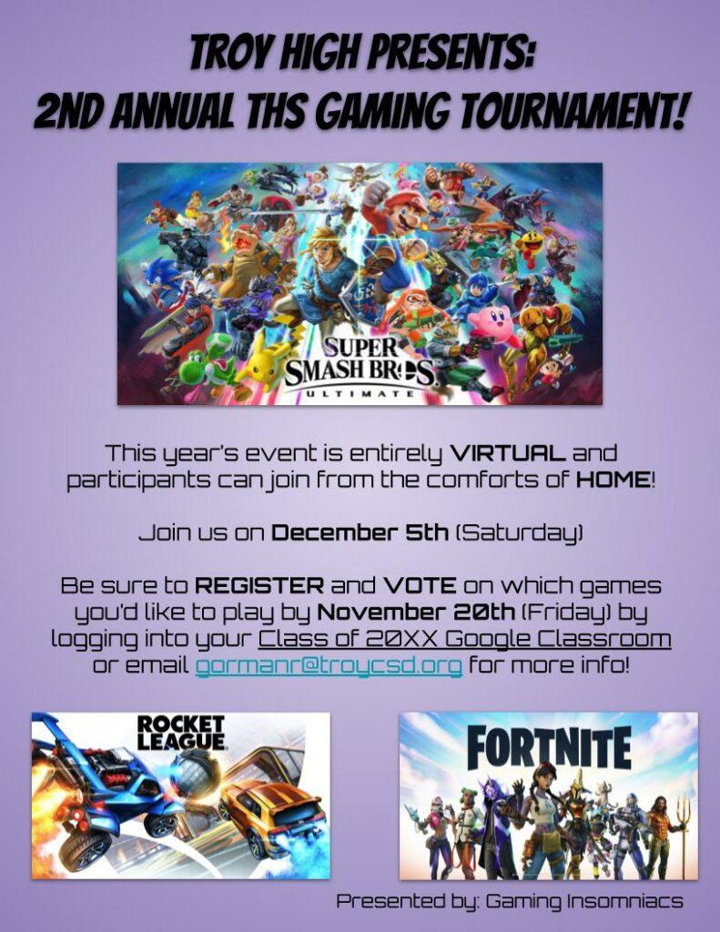 Video Game Tournament Fall 2020