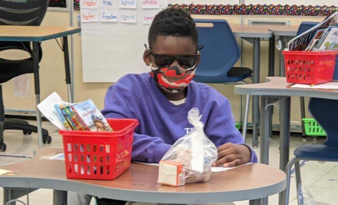 Student in sunglasses