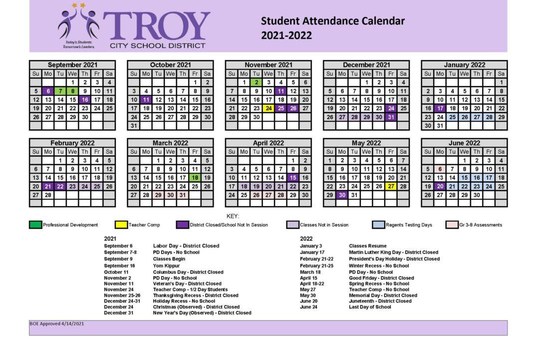Board approves 2021-2022 student attendance calendar