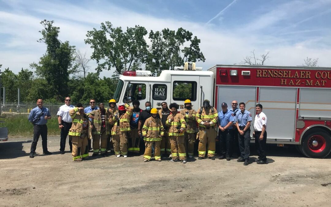 School 12 students learn about firefighting